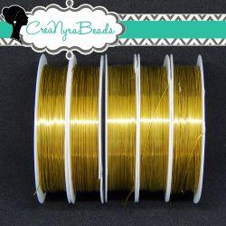 Filo in ottone diametro 0.4 mm Colore Oro  +/-10mt