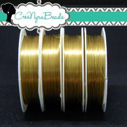 Filo in ottone diametro 0.3 mm Colore Oro  +/-20mt