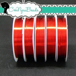 Filo in ottone diametro 0.4 mm Colore Rosso  +/-10mt