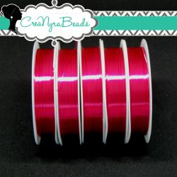 Filo in ottone diametro 0.4 mm Colore Fuchsia  +/-10mt