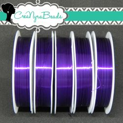 Filo in ottone diametro 0.4 mm Colore Viola  +/-10mt