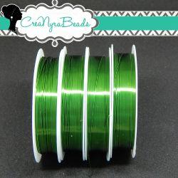 Filo in ottone diametro 0.4 mm Colore Verde  +/-10mt