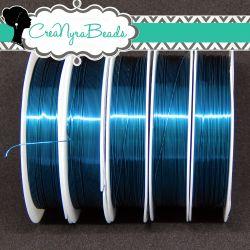 Filo in ottone diametro 0.4 mm Colore Blu ottanio  +/-10mt
