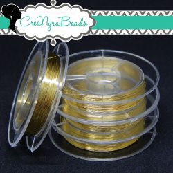 Filo in ottone diametro 0.3 mm Colore Oro  +/-10mt