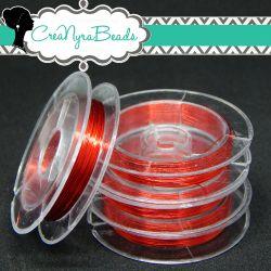 Filo in ottone diametro 0.3 mm Colore Rosso  +/-10mt