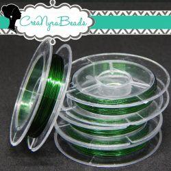 Filo in ottone diametro 0.3 mm Colore Verde  +/-10mt