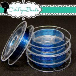 Filo in ottone diametro 0.3 mm Colore Blu  +/-10mt