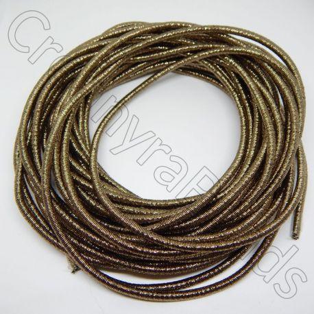 50 cm Catena Serpentina 4mm rivestita oro antico