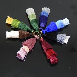 Nappina con anellino 48 mm in seta sintetica 3 Balze Scegli il colore