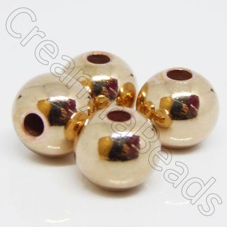 5 Pz Perla Sfera in Acciaio inossidabile dorato Ø 8mm