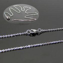2 Pz Base per Catenina 45 cm  in acciaio inox  maglina 2x1.5  mm