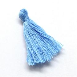 5 Pz Nappine in poliestere 30mm colore Celeste Sapphire