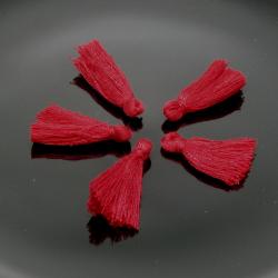 5 Pz Nappine in poliestere 30mm colore Bordeaux