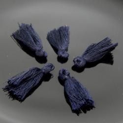 5 Pz Nappine in poliestere 30mm colore Blu Scuro