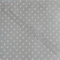 Foglio Pannolenci Beige 30x40 da 1 mm pois Bianco Marianne Hobby