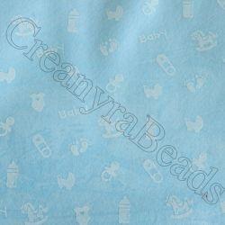 Foglio Pannolenci Celeste 30x40 da 1 mm Baby Bianco Marianne Hobby