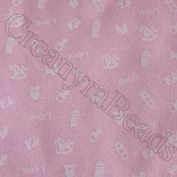 Foglio Pannolenci Rosa 30x40 da 1 mm Baby Bianco Marianne Hobby