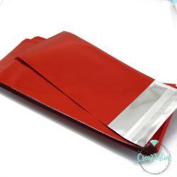 1 Confezione Sacchetti cellophane  rosso autoadesivo 15x7 cm +/- 100 pz