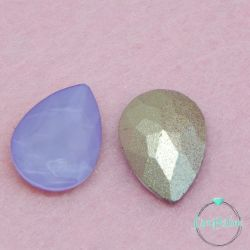 2 Pz Goccia 13x18mm  in vetro sfaccettato Lilla  opal