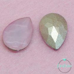 2 Pz Goccia 13x18mm  in vetro sfaccettato Rosa opal