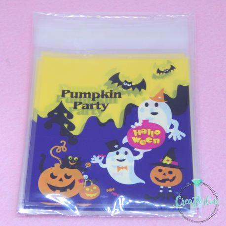 20 Pz Sacchetto regalo cellophane Halloween Party 14x10cm