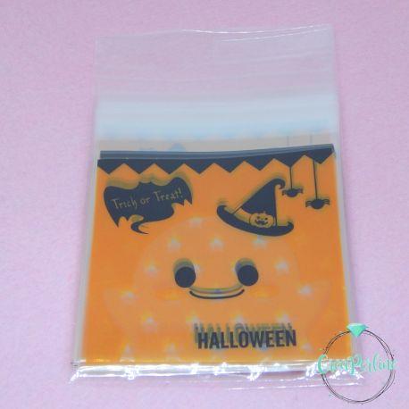 20 Pz Sacchetto regalo cellophane Halloween Trick or Treat 13x10cm