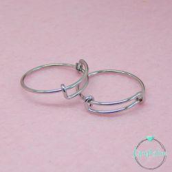 Base per anello Bangle Diametro18mm in acciaio inossidabile
