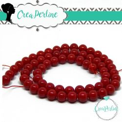 10 Pz Perle di Majorca sfera tonda 6mm rosso