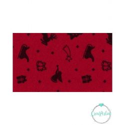 Foglio Pannolenci Stelline Motivi Natalizi Rosso Verde 30x40 da 1 mm Marianne Hobby