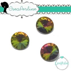 1 Pz Rivoli cabochon tondo Vitrail light  14 mm