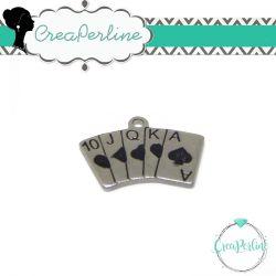 Ciondolo Carte da Gioco Poker in acciaio inossidabile