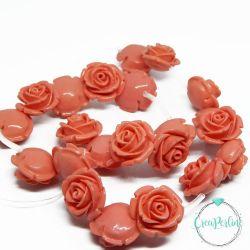 Perla in resina Rosa Tono Corallo Rosa 20 mm