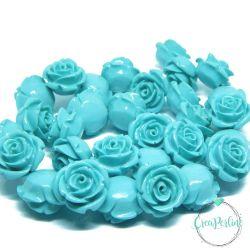 Perla in resina Rosa Tono Turcherse 18 mm