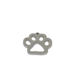 Ciondolo acciaio zampetta QS 14x14mm