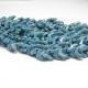 Perline Chevron Duo White Blu Luster - 15 Pezzi