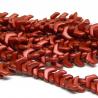 Perline Chevron Duo Chalk Lava Red - 15 Pezzi