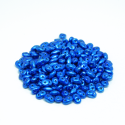 Perline Superduo 5x2,5mm Metalust Crown Blue 10gr