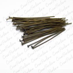 30 pz spilli con testa a t  bronzo verde 50 mm