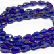 5 Pz Goccia in vetro sfaccettato Briolette Clear Blu Iris 15x10 mm