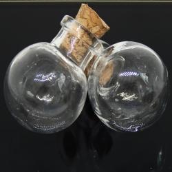 Bottiglietta in vetro Pallina sfera con tappo in sughero 22x13 mm
