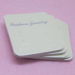 25 Pz Espositore Orecchini da appendere Cartoncino colore lino