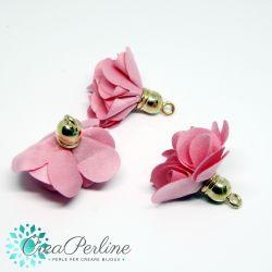 Nappina Fiore in  Tessuto tono Baby Rosa base dorata