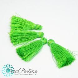 4 Pz Nappine in poliestere lucido 35-38mm tono Verde Neon