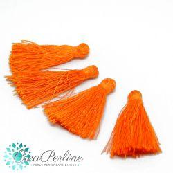 4 Pz Nappine in poliestere lucido 35-38mm tono Arancio