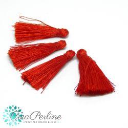 4 Pz Nappine in poliestere lucido 35-38mm tono Rosso