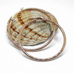 Orecchini Cerchio Creolo in acciaio inox Tono Oro Rosa 60 mm