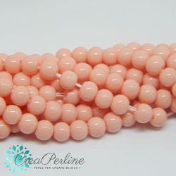 1 Filo Perla in vetro tono  Rosa  4 mm +/- 105-107pz