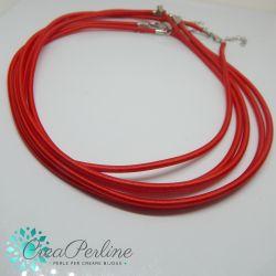 Catenina Rosso in gomma 3 mm rivestita filo 46 cm