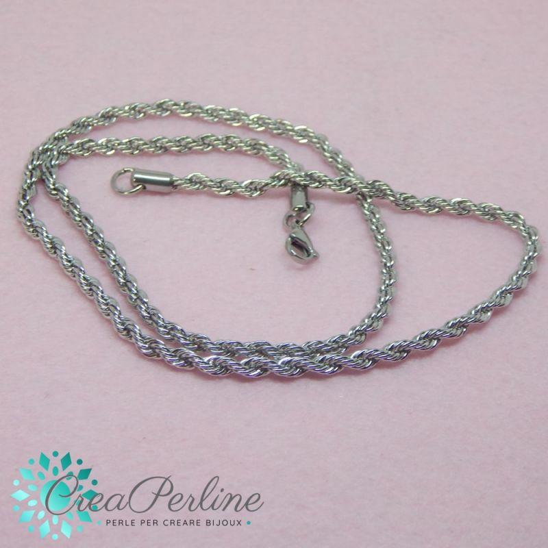9cdb5864fe Catenina in acciaio inox  Acquista materiali per creare bijoux da  Creaperline