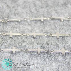 50 cm catena decorativa croce in acciaio inossidabile 5x9mm